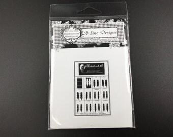 B Line Designs Rubber Stamp