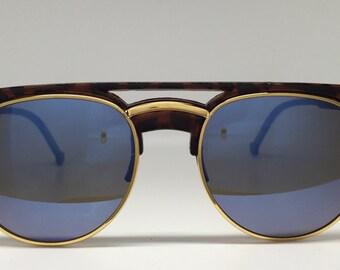 New Women's Tortoiseshell Aviator Round Sunglasses