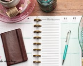 NOTES Happy Planner Inserts, Create 365 Planner Notes Pages, Happy Planner Refill Sheets, Me and My Big Ideas Planner Inserts, Classic Half