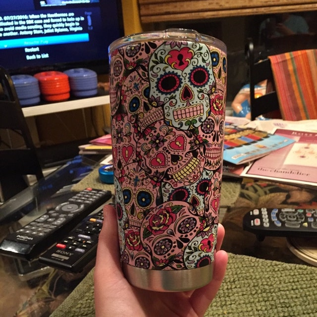 Hydro Dipped Yeti Cup Sugar Skull My Sugar Skulls - Sugar skull yeti cup