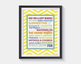 Summertime Subway Art - Instant Download