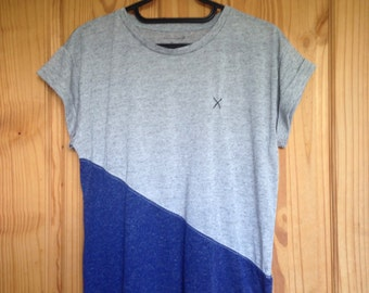 Asymmetric Colour Block T-shirt