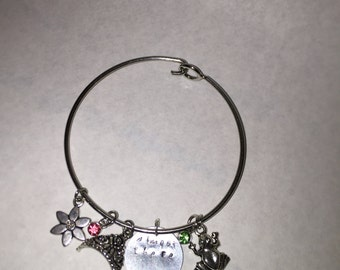 Princess and the frog inspired charm bracelet