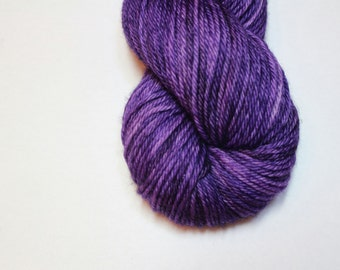Superwash Merino Worsted Yarn - Semi-Solid Dyed - approx. 218 yards - 100 grams -  ROYAL PURPLE