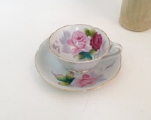 Nasco Fine China Hand Painted Tea Cup Saucer | Made in Japan