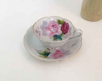 "Nasco Fine China Hand Painted Tea Cup Saucer | Made in Japan ""On Sale"""