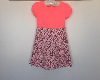 Pink tshirt rosebud dress, size 18 months
