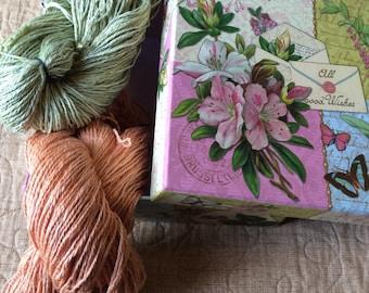 Hand-spun 100% Soy fiber yarn