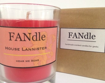 House Lannister Game of Thrones Scented Candle