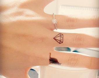 Tiny Classy Diamond tattoo_Very cute_set of 10