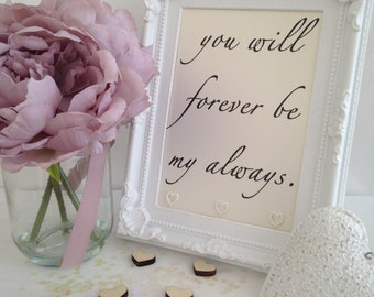 Framed Typography Embellished Quote - Love
