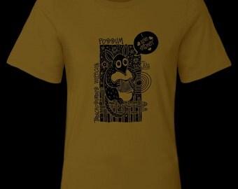Possum: Screen Printed-Pure Cotton-Brown-Femail T-Shirt