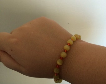 Yellow and Orange Beaded Bracelet