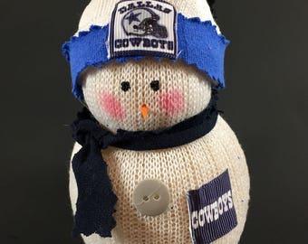 Dallas Cowboys snowman,Dallas Cowboys art & collectible,Dallas cowboys accessory,Dallas Cowboys decor,Dallas Cowboys gift,Dallas Cowboys