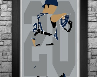 JORGE POSADA minimalism style limited edition art print. Choose from 3 sizes!