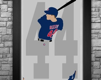 ANTHONY RIZZO minimalism style limited edition art print. Choose from 3 sizes!