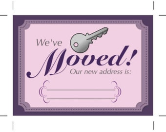 INSTANT DOWNLOAD: Moving notice, we've moved, new address
