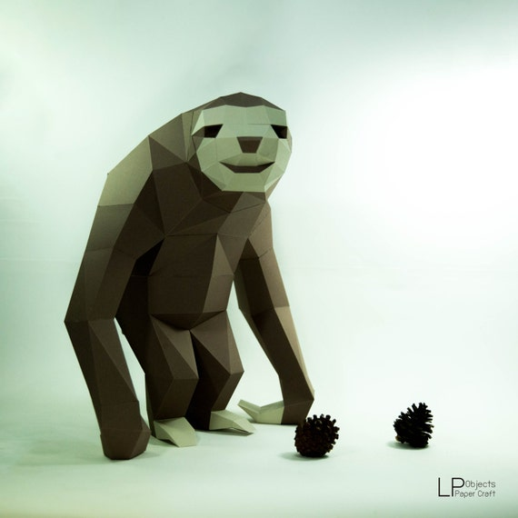 how to make a sloth out of paper