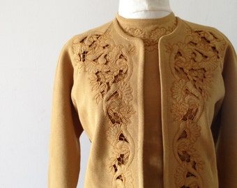 Vintage cardigan and matching top 1960s