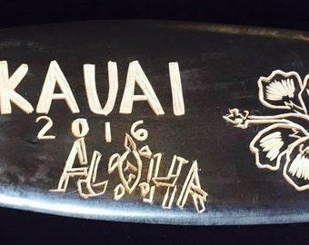 Wood carving design#3-Kauai Aloha