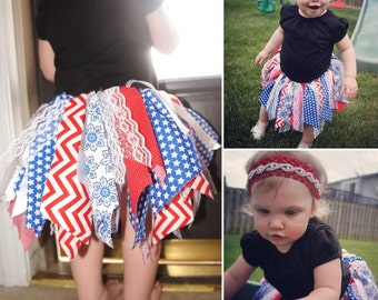 4th of July Fabric Tutu