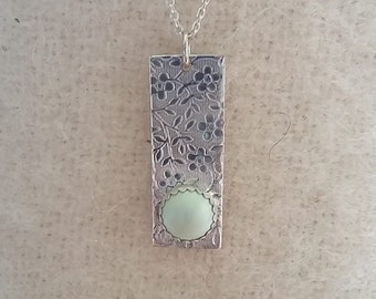 Sterling Silver Swarovski Pearl Necklace on 16 inch Sterling Silver Chain Pastel Green