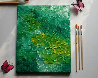 Forest Run - Acrylic Painting - Abstract Art - Nature Painting