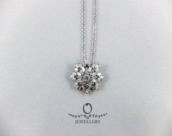 Modern Snowflake Necklace