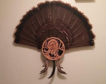 Hand Made Turkey Fan, Mount for Trophy Birds