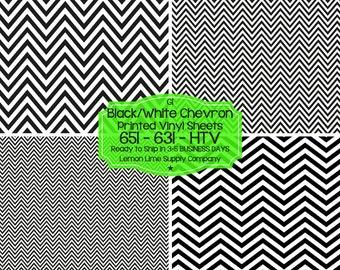 Black White Chevron Vinyl/Printed Heat Transfer Vinyl/Pattern Vinyl/Printed 651 Vinyl/Printed 631 Vinyl/Printed Outdoor Vinyl/Printed HTV
