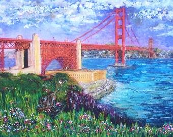 San Francisco art, San Francisco print, Golden Gate Bridge print, Golden Gate Bridge art, SF art, SF print, landscape print, cityscape