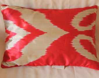 Luxury Silk Ikat handmade cushion pillow case cover