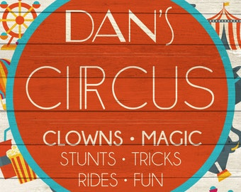 Custom Circus Sign Digital Download