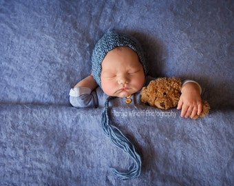 Crochet newborn lace pixie bonnet - made to order - choose your colour - photography prop