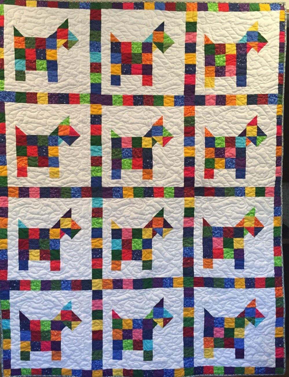 Quilt Pattern For Scottie Dog : Puppy Love Scottie Dog Quilt