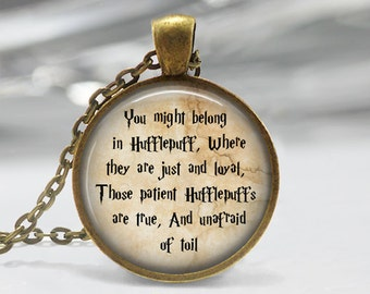 Harry Potter necklace Harry Potter keychain Hufflepuff', J K Rowling Quote Necklace Harry Potter Jewelry Albus Dumbledore quote Harry Potter