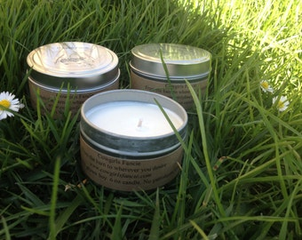 Soy Candle 6 ounce in Tin