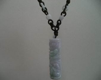 Chinese Jade Dragon Pole Necklace