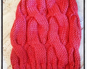 Classic Cable Slouchy Hat