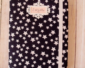 Model fabric Navy Blue with white stars