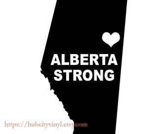 Alberta Strong Heart Vinyl Decal