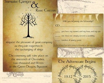 Lord Of The Rings Wedding Invitation Set ~Digital~