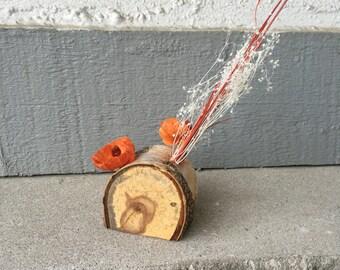 Birch and Dried Flower Centerpiece