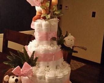 Woodland Animal Diaper Cake