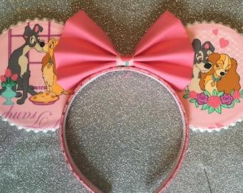 Lady and the Tramp Minnie Ears- Mickey Ears Headband