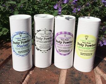 Talc free Body Powder Bath Dusting Powder   4 oz