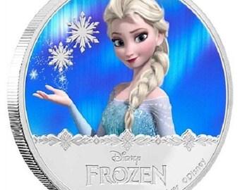 2016 Elsa 1 oz Plated sliver (Colorized)