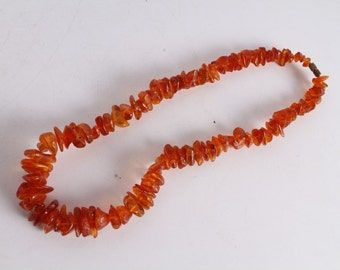 Vintage Russian Made Natural Baltic Amber Necklace.