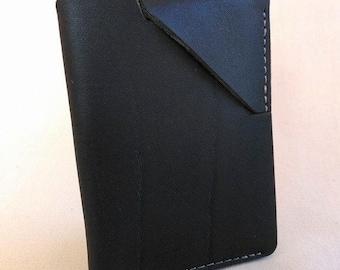 Mini Slim card wallet in dark brown leather