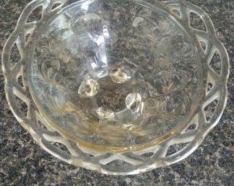 "Vintage candy dish with ""braided"" side"